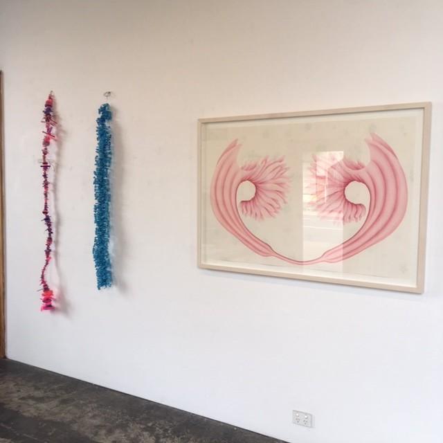 VIVID, Installation View, L-R Rox de Luca and Filomena Coppola