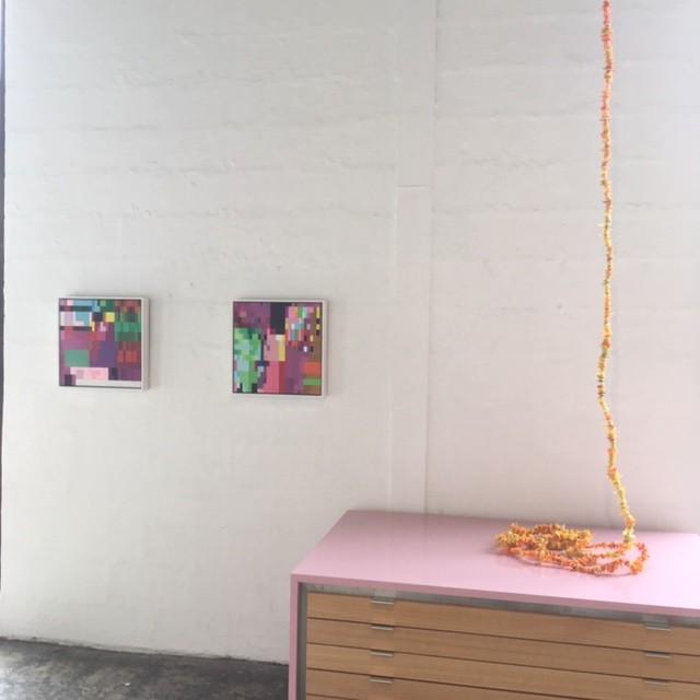VIVID, Installation View, L-R Sue Beyer and Rox de Luca