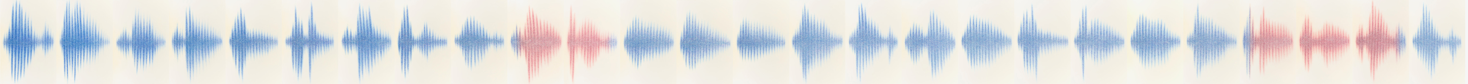 Alpha Sound, Sound Waves, 26 drawings each 120h x 80w cm