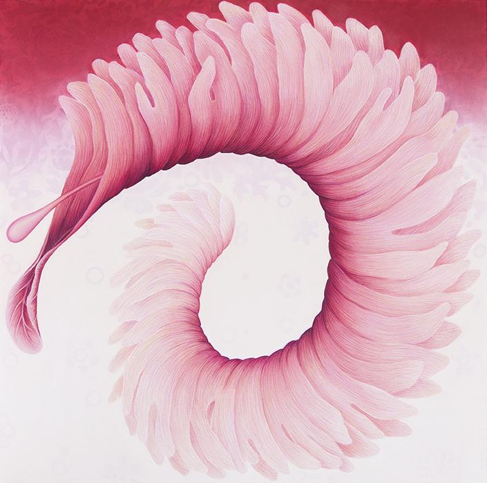Filomena Coppola, Spiralling, pastel on paper, 80h x 80w cm, 2017